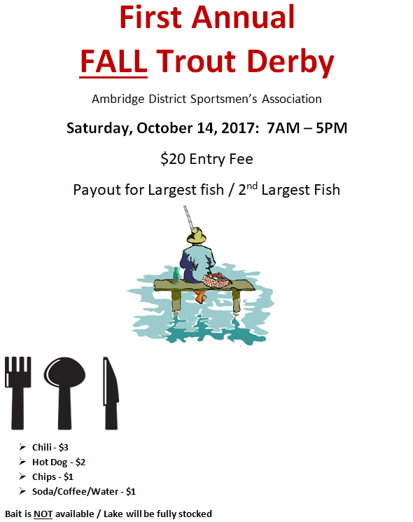 Fall Trout Derby 2017-10-14